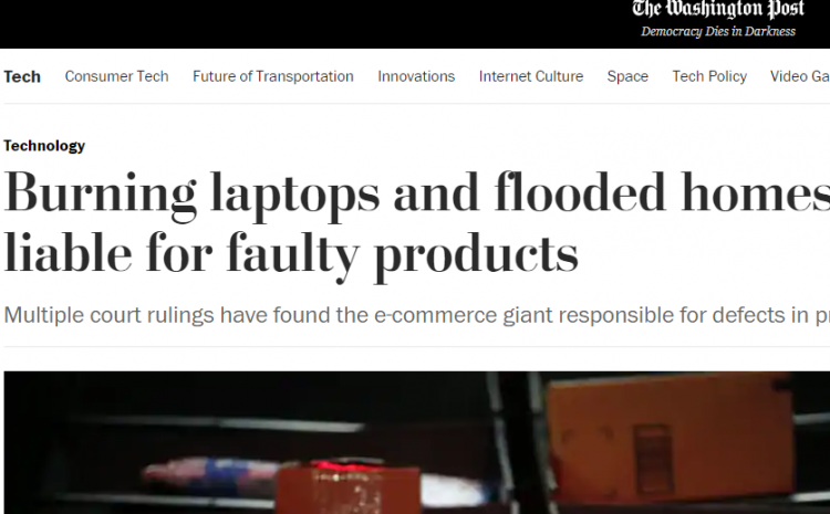 Burning laptops and flooded homes: Courts hold Amazon liable for faulty products